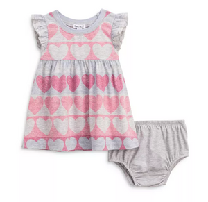 Splendid Lovely Girl Heart Baby Dress Set