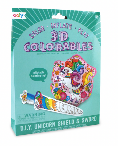 ooly 3D Colorables - Unicorn Shield Coloring Kit