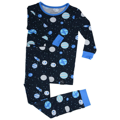 Sweet Bamboo Outer Space LS Toddler PJs