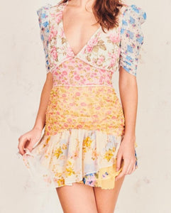 LoveShackFancy Arlo Picnic Patchwork Dress