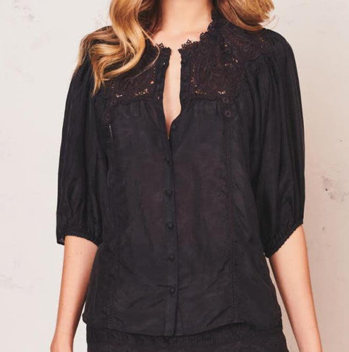LoveShackFancy Maiden Black Top