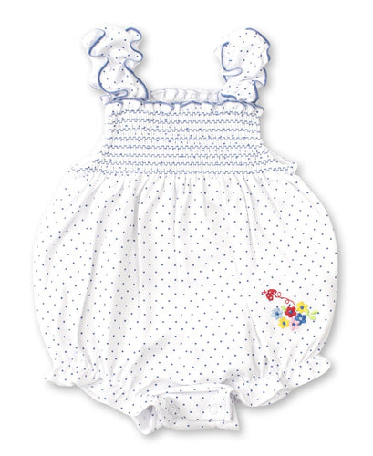 kissy kissy Blue Dot Bubble Onesie