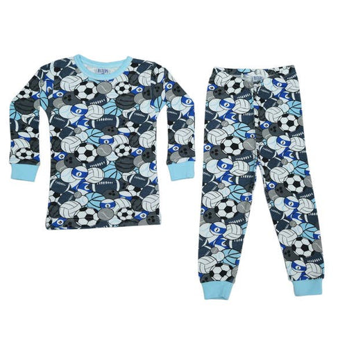 Baby Steps Sports Blue PJs