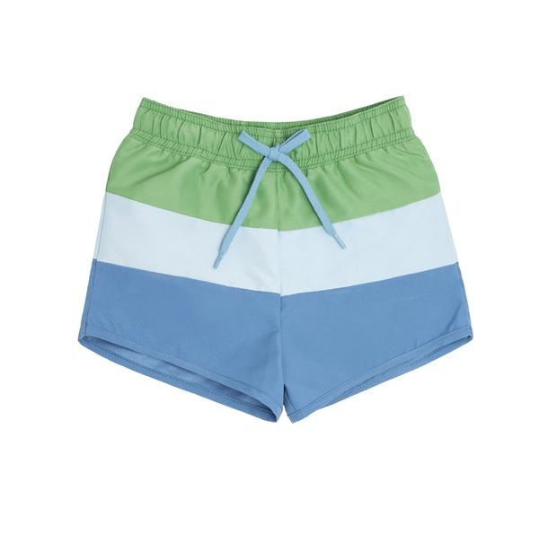 minnow swim Boys Peri Blue Tricolor Block Boardie