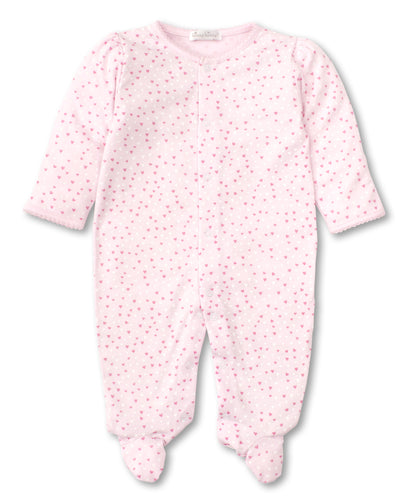 kissy kissy Pink Hearts Button Footie