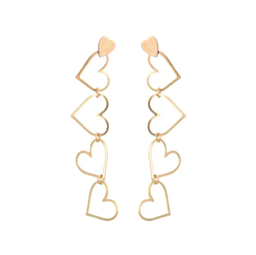 We Dream in Colour Chained Heart Earrings
