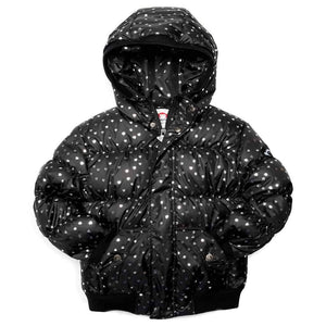 Appaman Silver Hearts Black Puffer Coat