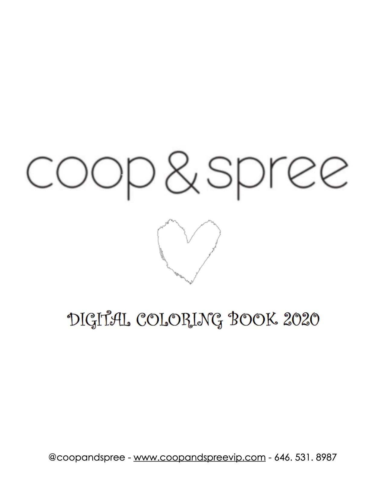 coop & spree Free Digital Coloring Book
