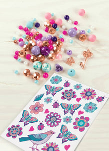 Make It Real Blooming Creativity Bedazzled Charm Bracelets Kit