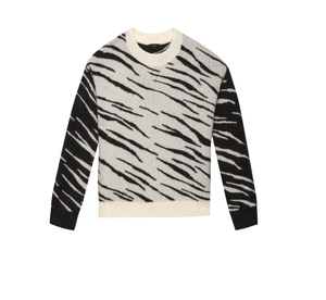 Rails Lana Mixed Abstract Tiger Sweater