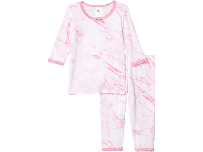 esme Pink Marble 3/4 Lace Toddler Pajama Set