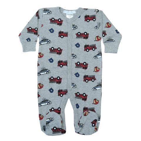Baby Steps Heather Fire Truck Footie