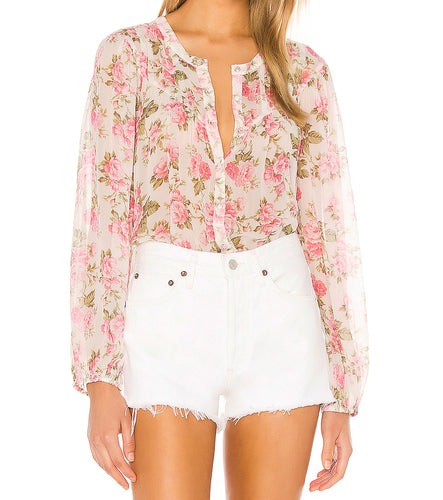LoveShackFancy Goodwin Blushing Rose Blouse