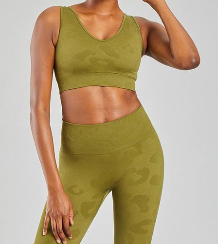 PHAT BUDDHA x HONESTLY KATE Olive Green Leopard Set