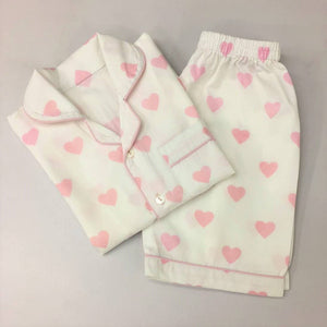 Little West Street Hearts Shorts Toddler Pajama Set