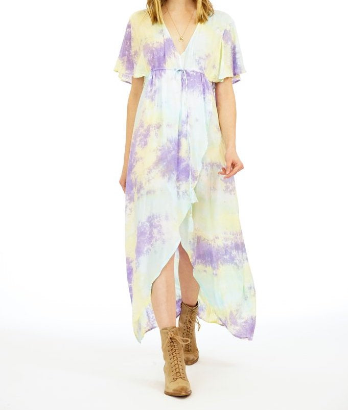 Tiare Hawaii Honeysuckle Aqua/Yellow/Violet Smoke Dress (1 Size)