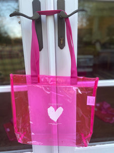 coop & spree Hot Pink Translucent Tote
