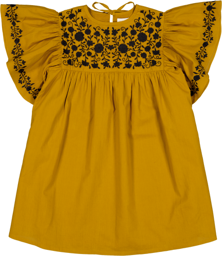 Louis Louise Holly Light Saffron Dress