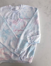c&s Women's Custom Embroidered Tie Dye Sweatshirt with Heart or Star