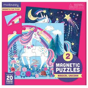 Mudpuppy Magical Unicorn Magnetic Puzzles