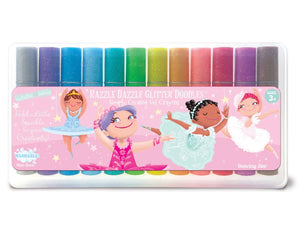 The Piggy Story Dancing Star Glitter Doodle Gel Crayons