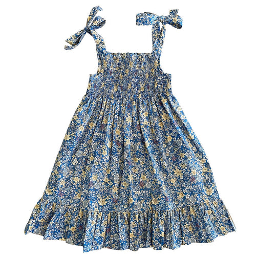 busy bees India Shoulder Tie Dress Spring Floral