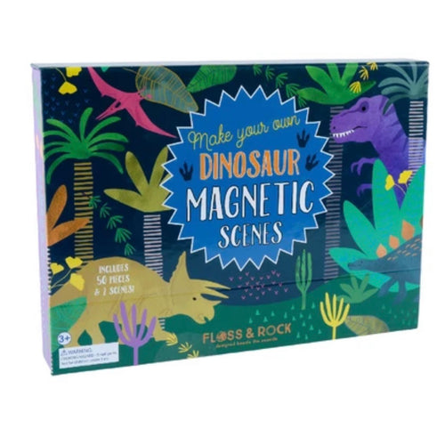 Floss & Rock Magnetic Dinosaur Scenes Playset