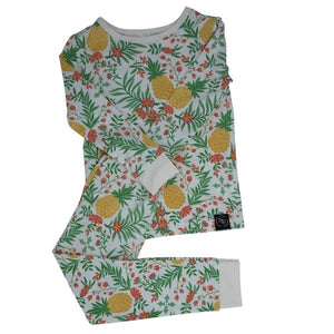 Sweet Bamboo Pineapple Floral LS Toddler PJs
