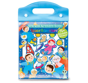 The Piggy Story Space Sticker Activity Tote