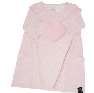 Sweet Bamboo French Terry Pink Heart Dress