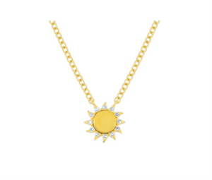 EF Collection Diamond Yellow Gold You Are My Sunshine Necklace