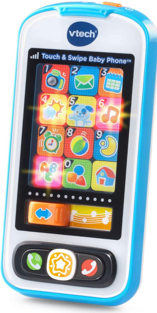 VTech Touch and Swipe Blue Baby Phone