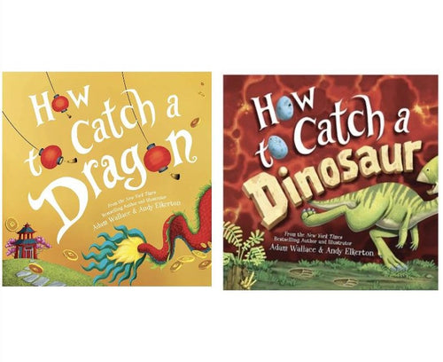 Sourcebooks Book Set: How To Catch a Dragon & How To Catch a Dinosaur
