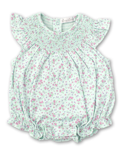 kissy kissy Mint Rose Bubble Onesie