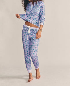 LoveShackFancy x Morgan Lane Kaia Crushed Blueberries Pajama Set