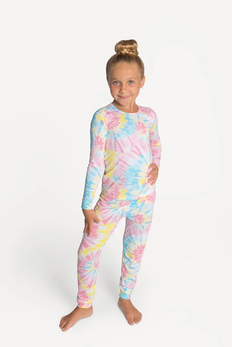 Lovey & Grink Cotton Candy Tie Dye PJs