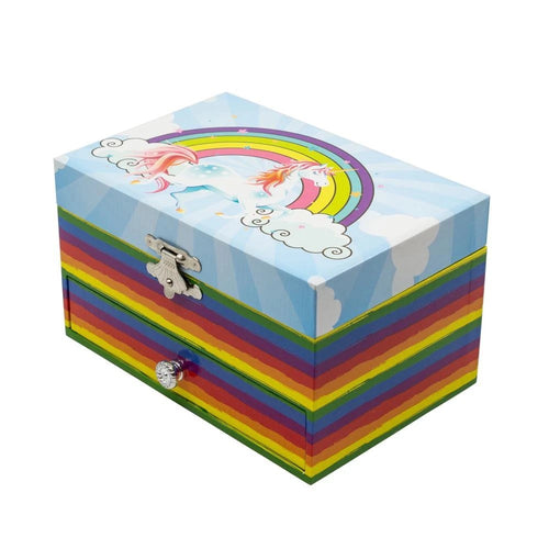 Chanteur Unicorn & Rainbow Music Jewelry Box