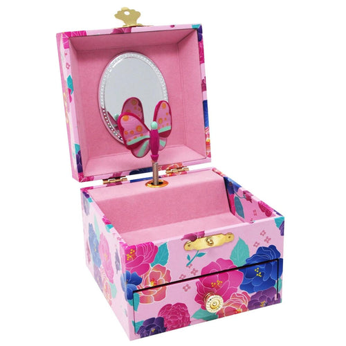 Pink Poppy My Darling Small Music Box