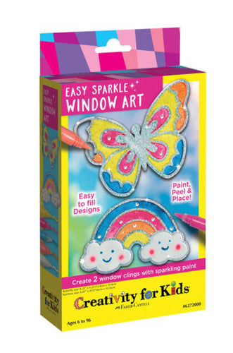 Creativity For Kids Easy Sparkle Window Art Mini Kit