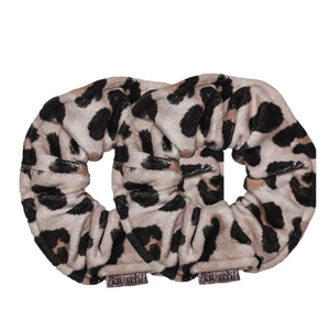 KITSCH Leopard Towel Scrunchie & Microfiber Headband Set