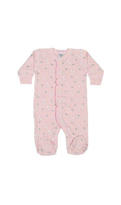 Baby Steps Pink Bow Footie