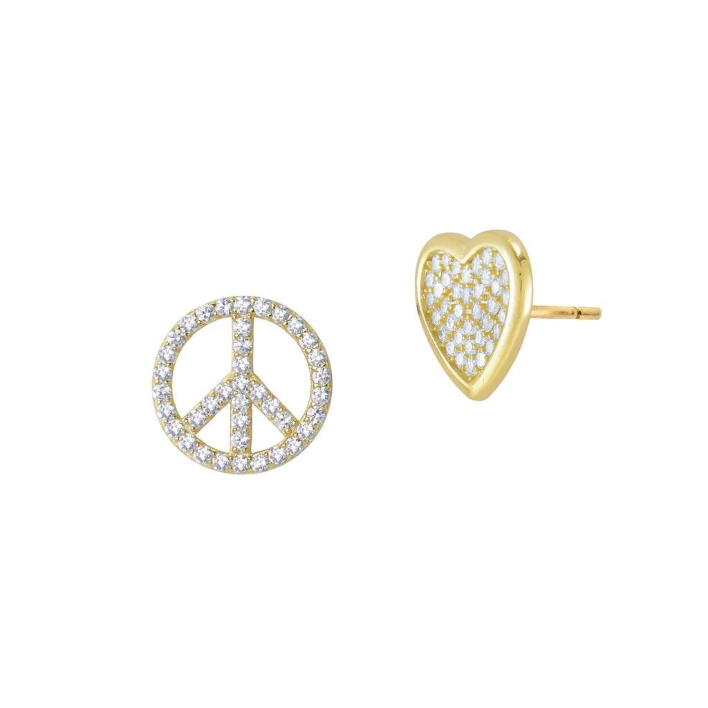 Jaimie Nicole Peace & Love Earring Set