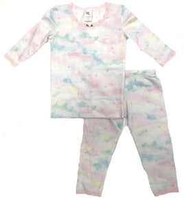 esme Shimmer Clouds with Lace 3/4 Sleeve Toddler Pajama Set