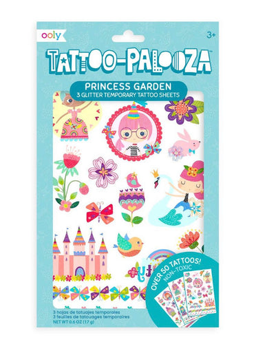 Tattoo-Palooza Temporary Tattoos: Princess Garden