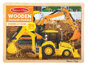 Melissa & Doug Construction Jigsaw Puzzle (24 Pieces)