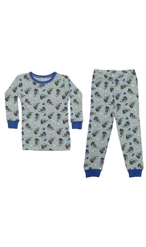 Baby Steps Heather Sneakers PJs