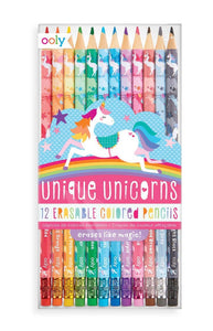 ooly Unicorn Mini Journals & Unicorn Erasable Colored Pencils