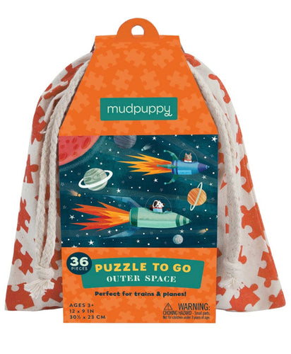 Mudpuppy Outer Space to Go Puzzle (36 Pieces)