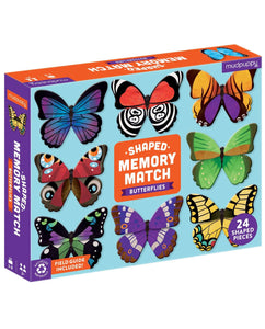 Mudpuppy Butterflies Shaped Memory Match Set
