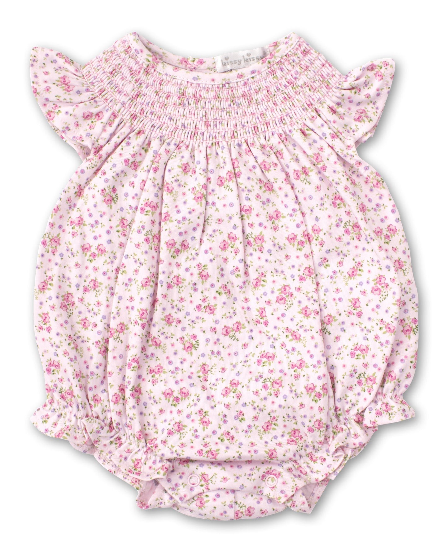 kissy kissy Dusty Rose Bubble Onesie